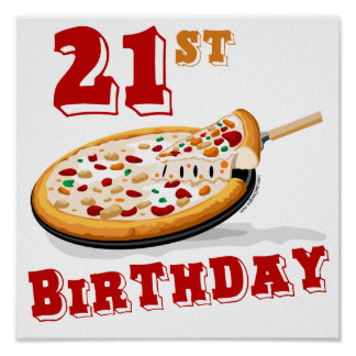 21st FödelsedagPizzaparty Poster