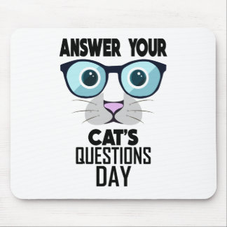 22nd Januari - svara att din katt ifrågasätter dag Musmattor