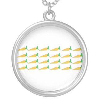 24 guld- morothalsband silverpläterat halsband