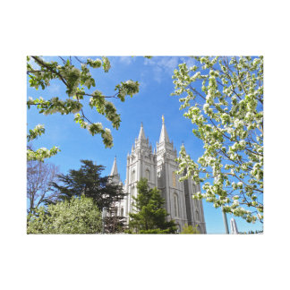 """24"""" X 18"""" kanfasSalt Lake City LDS tempel Canvastryck"""