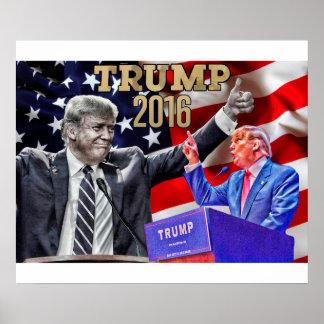 """24"""" x 20"""", Donald Trump affisch"""