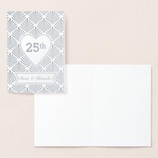 25th årsdag för verklig underbar Gatsby för silver Folierat Kort