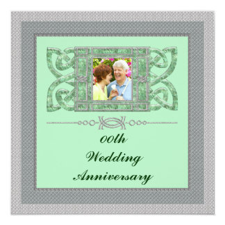 25th Bröllopsdagpartyinbjudan Fyrkantigt 13,3 Cm Inbjudningskort