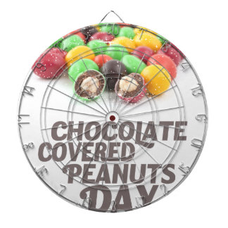 25th Februari - Choklad-Täckt jordnötdag Darttavla