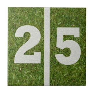 25th Födelsedagfotbollanpassadet belägger med tege Kakelplatta Av Kerami