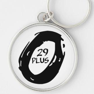 29,5+ allt shoppar rund silverfärgad nyckelring