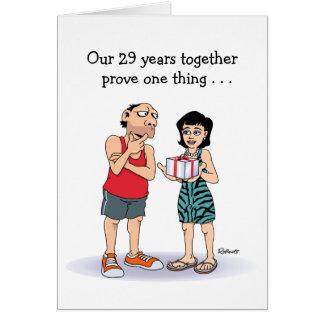 29th Bröllopsdag Hälsningskort