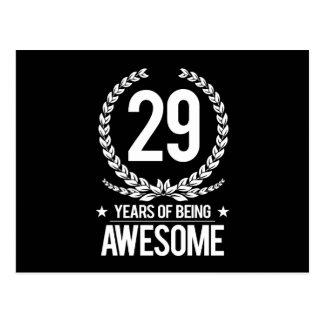 29th Födelsedag (29 år av att vara enorma) Vykort