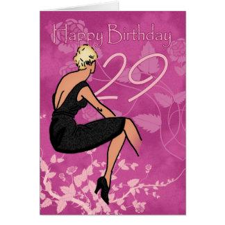 29th födelsedagkort för snyggt - modernt kvinnligt hälsningskort