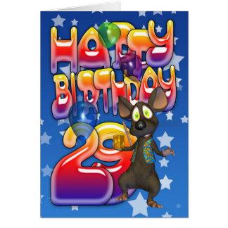 29th Födelsedagkort, grattis på födelsedagen Hälsningskort