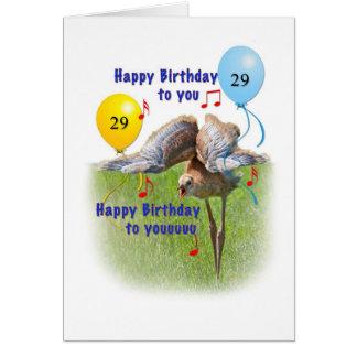 29th Födelsedagkort med den Sandhill kranfågeln Hälsningskort