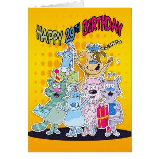 29th Födelsedagkort - Moonies Doodlematoons Hälsningskort