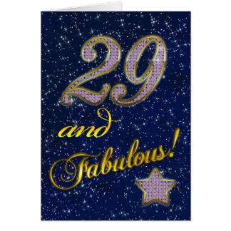 29th Födelsedagsfest inbjudan Hälsningskort