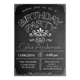 29th Inbjudan för svart tavlafödelsedagfirande