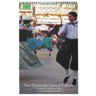 2.000 år av kultur Mallorca Spanien Kalender