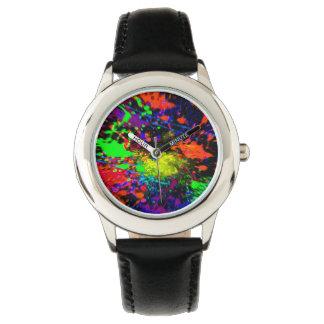 2 dimensionera splatteren målar klockan