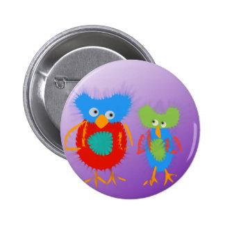 2 färgrika ugglor knäppas standard knapp rund 5.7 cm