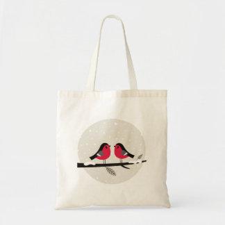 2 love birds på tote bags: Nytt shoppa in Budget Tygkasse
