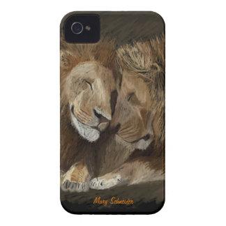 2 Male lejon iPhone 4 Fodral