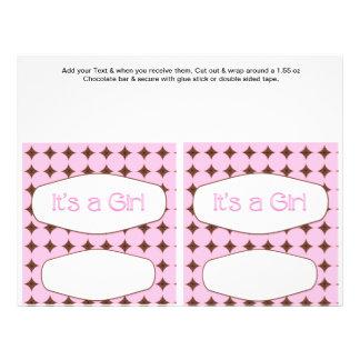 2 omslag för pub för godis för rosababy showerfavö flygblad