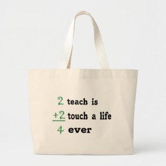 2 undervisar är handlag 2 per liv 4 någonsin jumbo tygkasse