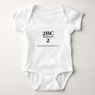 2BC/2 blodar ner för klyftigt vid halva Tee Shirts