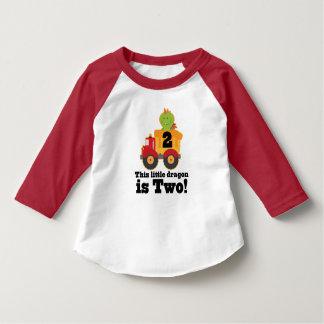2nd Årig Tshirt för födelsedagdrakelastbil 2 T-shirts