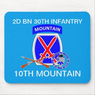 2ND BERG MOUSEPAD för 30TH INFANTERI för BN 10TH Musmatta