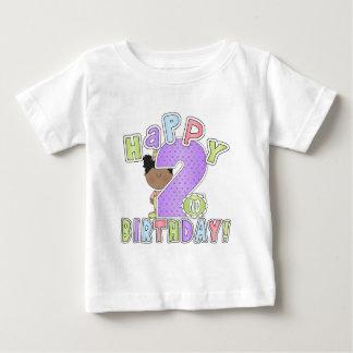 2nd födelsedag för flickalycklig, afrikansk t shirt