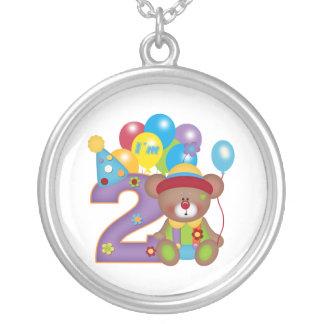 2nd Födelsedag för födelsedagbjörnclown Hängsmycken