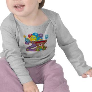 2nd Födelsedag för födelsedagbjörnclown T-shirts