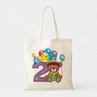 2nd Födelsedag för födelsedagbjörnclown Tote Bag