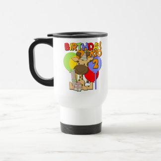 2nd födelsedag för giraff kaffe koppar