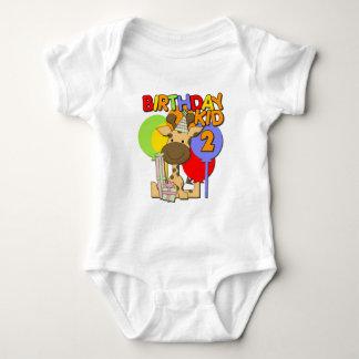 2nd födelsedag för giraff tee shirt