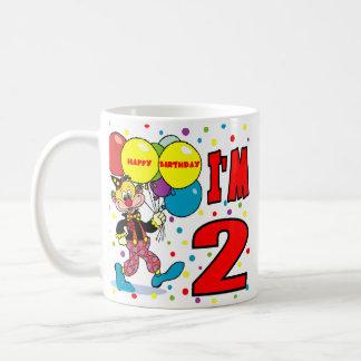 2nd Födelsedagclownfödelsedag Kaffe Koppar