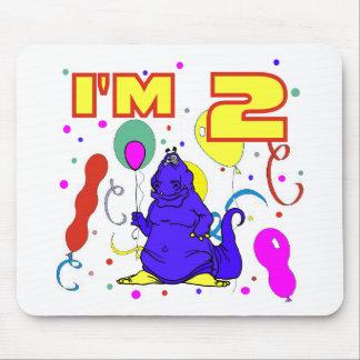 2nd FödelsedagDinosaurfödelsedag Mus Mattor