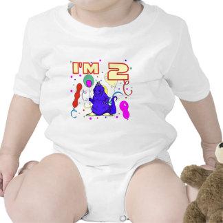2nd FödelsedagDinosaurfödelsedag Tee Shirt