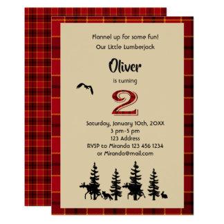 2nd födelsedagsfest inbjudan för Lumberjack