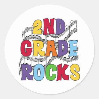 2nd klassstenar för multifärgad klistermärke