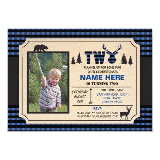 2nd Lumberjack inbjudan för två födelsedag