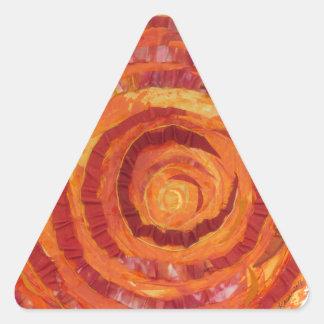 2nd-Sacral Chakra - orange Måla-Tyg #2 Triangelformat Klistermärke