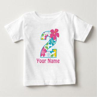 2nd Tropisk personligskjorta för födelsedag T-shirt
