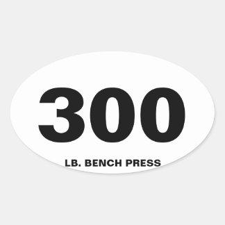 300 dunkar tar av planet pressen ovalt klistermärke