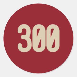 300 ord, 2 noterar symbolsklistermärken runt klistermärke