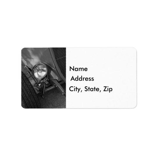 30-talRoadstergråton Adressetikett
