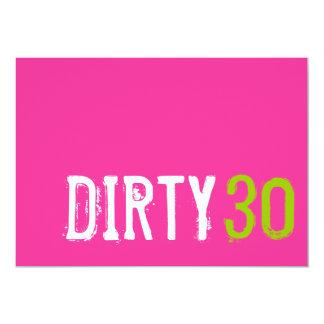 30års födelsedag - smutsa ner inbjudan 30