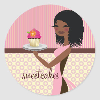 311 muffin Cutie - afrikansk amerikanrosa Runt Klistermärke