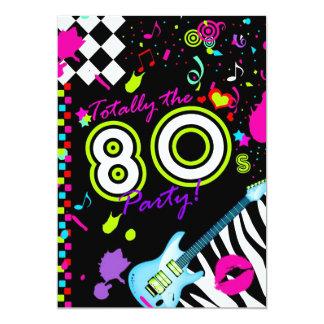 311-Totally 80-talpartyet - turkosgitarr 12,7 X 17,8 Cm Inbjudningskort