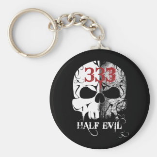 333 halva onda Keychain Rund Nyckelring
