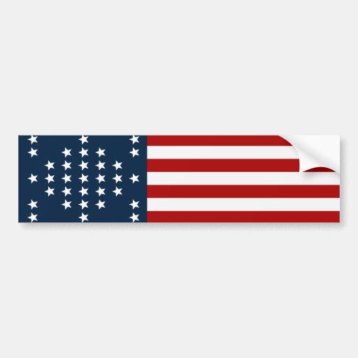33 flagga för inbördeskrig för stjärnafortSumter a Bildekaler